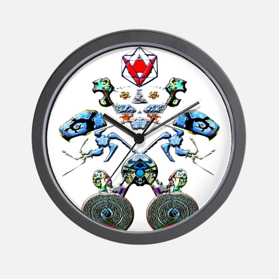 Fractal Man Wall Clock