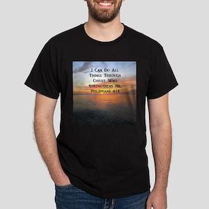 PHIL 4:13 VERSE Dark T-Shirt
