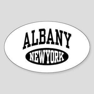 Albany New York Oval Sticker
