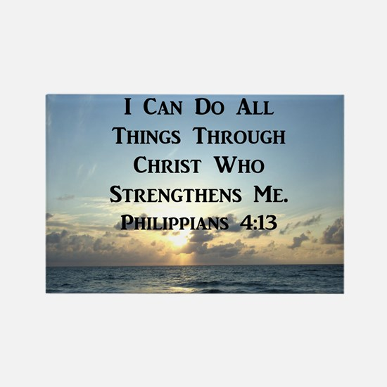 PHIL 4:13 VERSE Rectangle Magnet