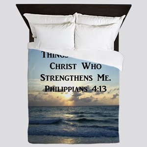 PHIL 4:13 VERSE Queen Duvet