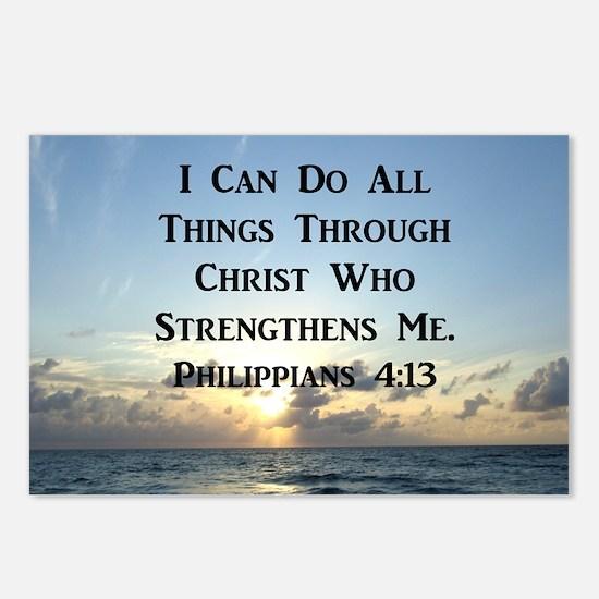 PHIL 4:13 VERSE Postcards (Package of 8)