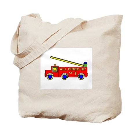Fire Truck 3rd Birthday Tote Bag