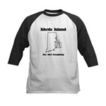 Funny Rhode Island Motto Kids Baseball Jersey