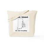 Funny Rhode Island Motto Tote Bag