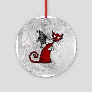 Doom Kitty Ornament (Round)