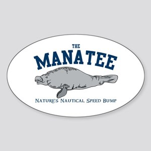 Manatee Oval Sticker