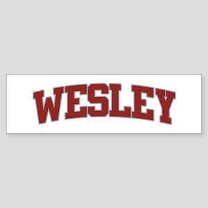 WESLEY Design Bumper Sticker