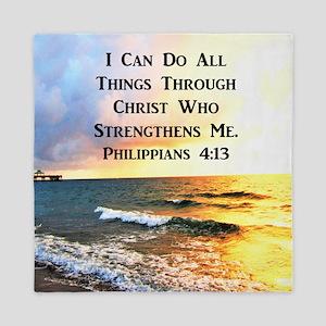 PHIL 4:13 VERSE Queen Duvet