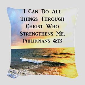 PHIL 4:13 VERSE Woven Throw Pillow