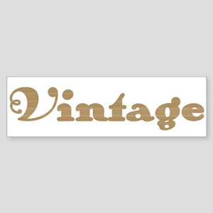 Brown Vintage Bumper Sticker