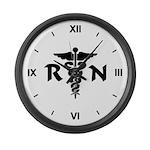 RN Medical Symbol Large Wall Clock