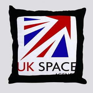 United Kingdom Space Agency Throw Pillow