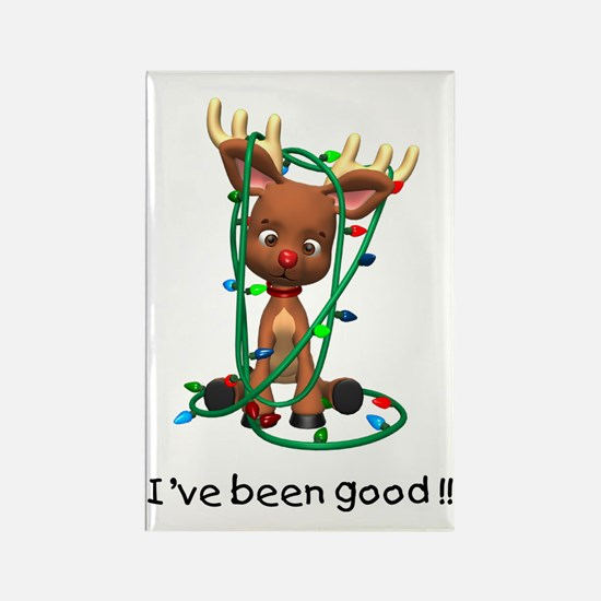 I've been good!! (Reindeer) Rectangle Magnet