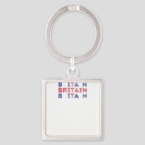 Britain Text Flag British Pride Design Keychains