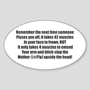 Bitch Slap Oval Sticker