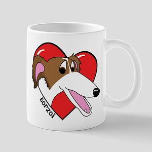 Cartoon Borzoi Love Mug