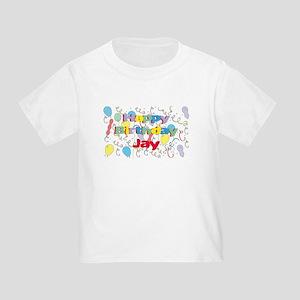 Happy Birthday Jay Toddler T Shirt