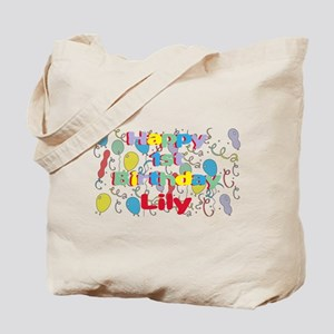 Lily's 1st Birthday Tote Bag