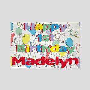 Madelyn's 1st Birthday Rectangle Magnet