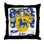 Leleu Family Crest Throw Pillow