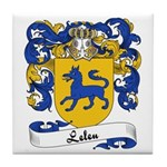 Leleu Family Crest Tile Coaster