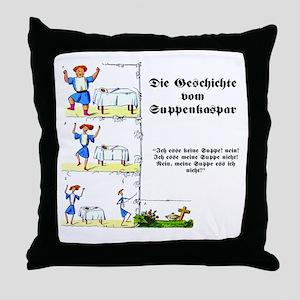 Struwwelpeter - Suppenkaspar Throw Pillow
