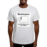 Funny Washington Motto Ash Grey T-Shirt