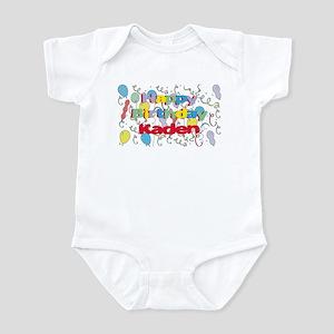 Happy Birthday Kaden Infant Bodysuit