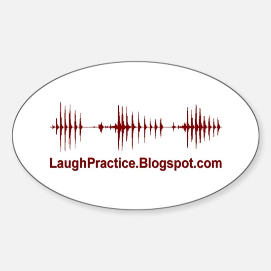 LaughPractice Oval Decal