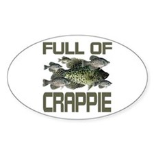 Full of Crappie Oval Sticker