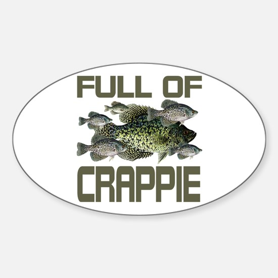 Full of Crappie Oval Decal
