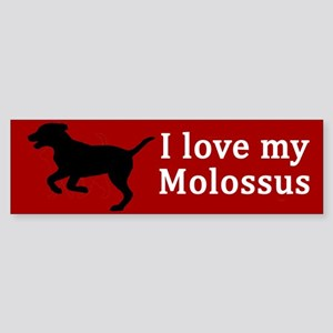 Molossus Dog Love Bumper Sticker