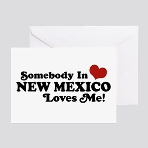 Somebody In New Mexico Loves Me Greeting Cards (Pk