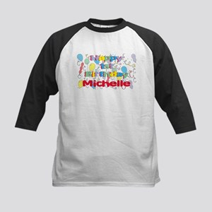 Michelle's 1st Birthday Kids Baseball Jersey