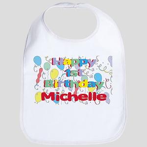 Michelle's 1st Birthday Bib