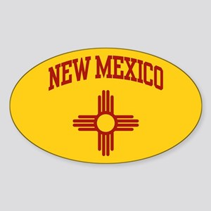 New Mexico Oval Sticker