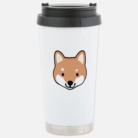 Shiba Inu Face Stainless Steel Travel Mug