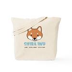 Shiba Inu Face Tote Bag