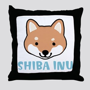 Shiba Inu Face Throw Pillow
