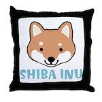 Shiba Inu Face Throw Pillow