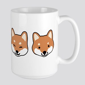 Shiba Inu Faces Large Mug