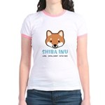 Shiba Inu Face Jr. Ringer T-Shirt