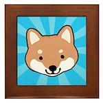 Shiba Inu Face Framed Tile