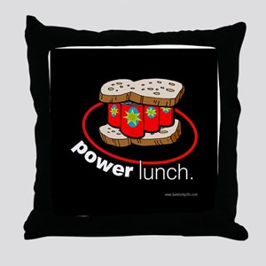 PowerLunch... Throw Pillow