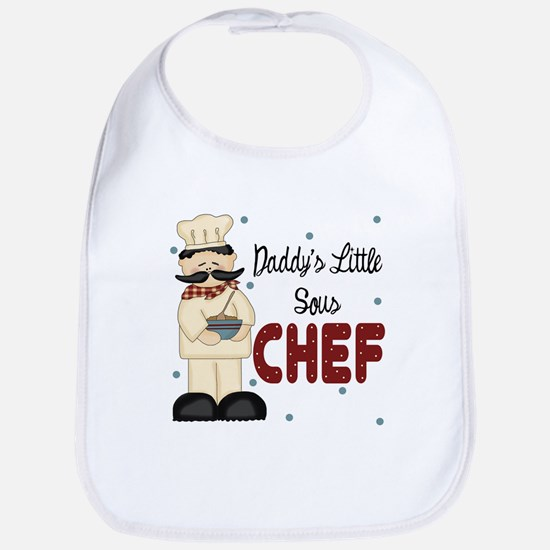 Daddy's Little Sous Chef Baby Infant Toddler Bib
