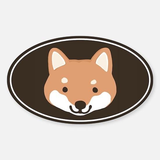 Shiba Inu Face Oval Decal
