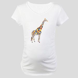 Multicolored Giraffe Maternity T-Shirt