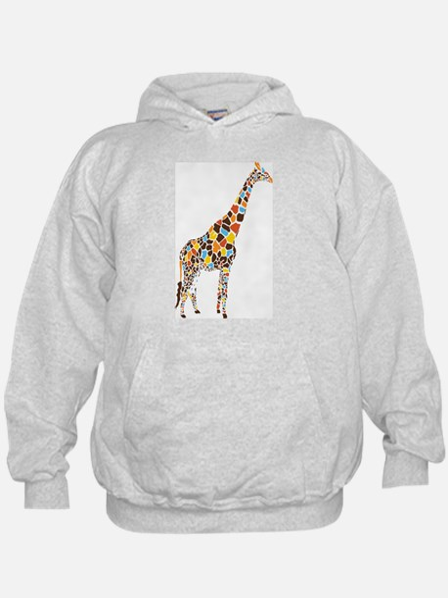 Multicolored Giraffe Hoodie