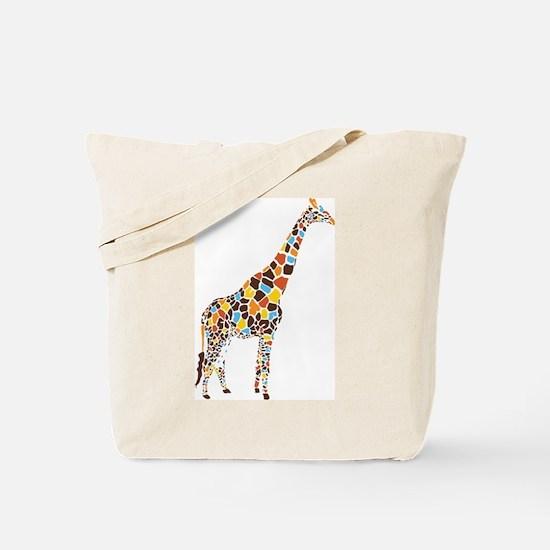 Multicolored Giraffe Tote Bag